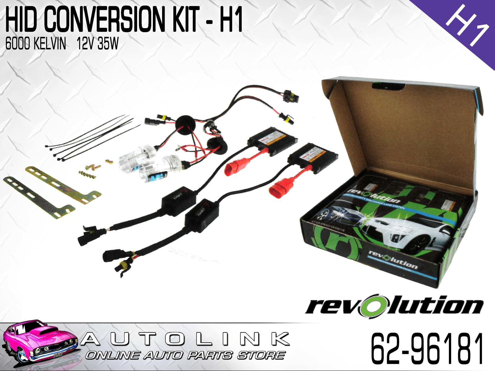 revolution hid xenon conversion kit 12v h1 globe slim