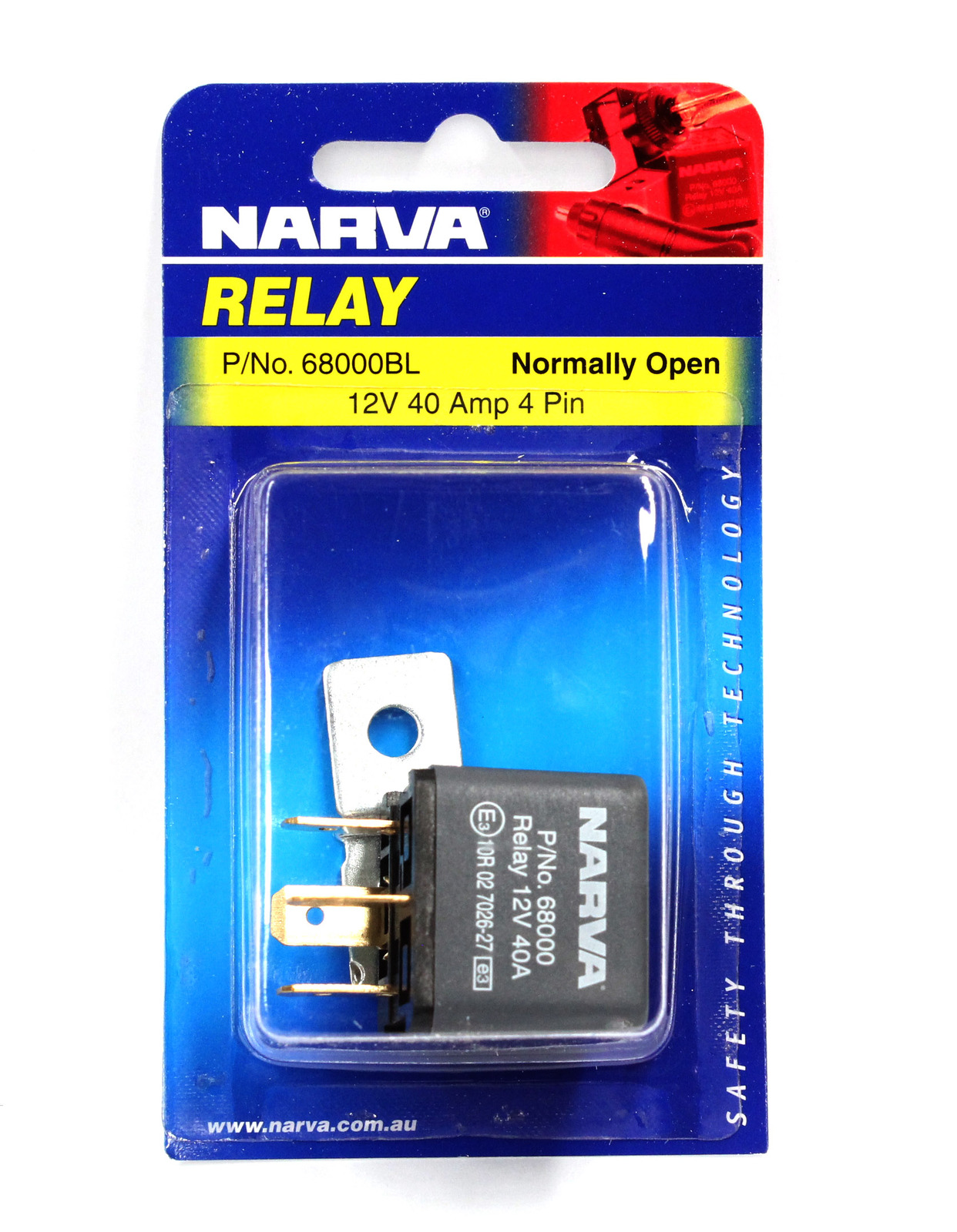 Narva 68000bl Relay 12 Volt 4pin 40 Amp Normally Open