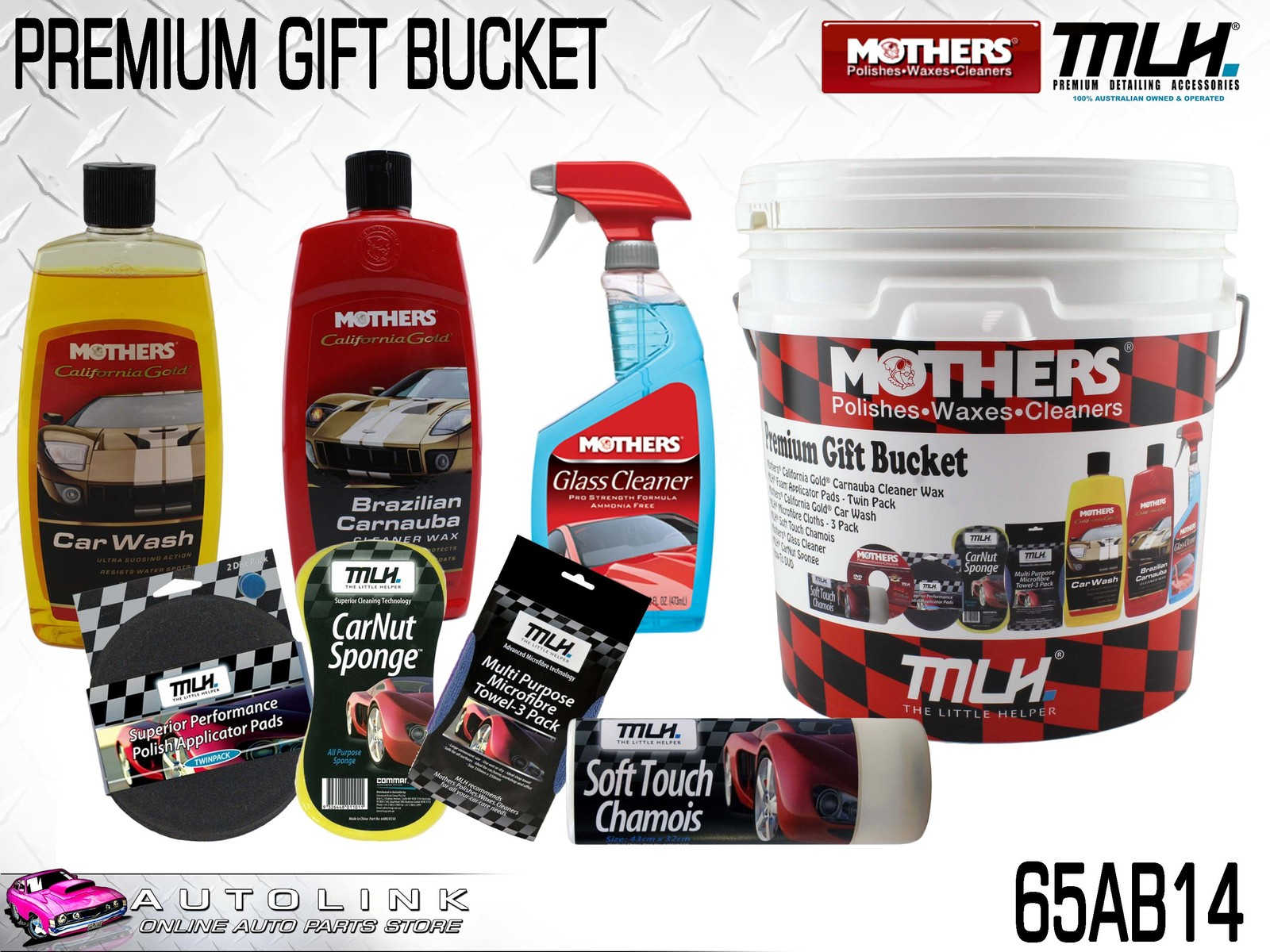 Mothers Car Care >> Mothers Mlh Car Care Gift Bucket California Gold Wash
