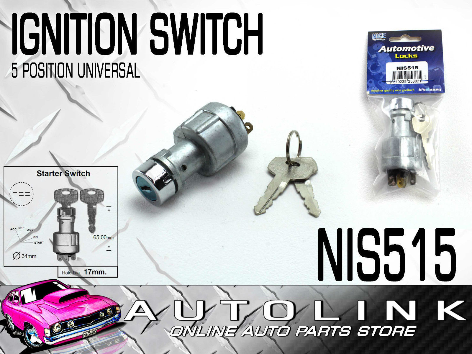 ignition starter switch universal 5 position mounting hole