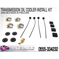 DRIVETECH 0555-334232 TRANSMISSION OIL COOLER INSTALL KIT 220mm LONG ZIP LOCKS