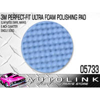"3M PERFECT IT ULTRA FINE POLISHING PAD 8"" DIA SWIRL FREE FINISH 05733"