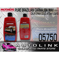 MOTHERS CALIFORNIA GOLD PURE BRAZILIAN CARNAUBA CAR WAX STEP 3 LIQUID 473ml