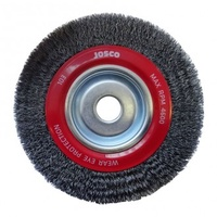 JOSCO 103 WIRE WHEEL BRUSH FOR BENCH GRINDER 200mm x 28mm 103CARD