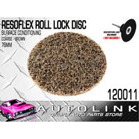 RESOFLEX 76mm ROLOC DISC COURSE BROWN HEAD GASKET SURFACE REMOVER CLEANER x1