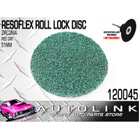 RESOFLEX 51mm ROLOC DISC P60 GRIT ZIRCONIA GRINDING SANDING PANELS BODY WORK x1