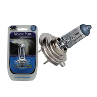 PHILIPS H7 VISION PLUS 12 VOLT 55W HEADLIGHT GLOBE 2 PIN 3500K 20 METER LONGER 1