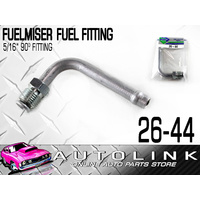 "FUELMISER 90 DEGREES FUEL LINE INLET PIPE 5/16"" HOSE / THREAD 9/16"" 24NPTF"