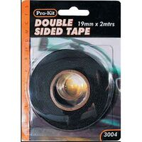 DOUBLE SIDED TAPE 19mm WIDE x 1mm THICK 2 METRE ROLL FOR TRIMS WEATHERSTRIPS