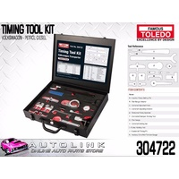 TOLEDO TIMING TOOL KIT SUIT VOLKSWAGEN LT35 LT46 2.5l tdI 2003 - 2006 ( 304722 )