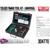 TOLEDO 304770 TIMING TOOL KIT - UNIVERSAL SUITS SOHC DOHC ENGINE APPLICATIONS