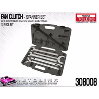 TOLEDO FAN CLUTCH SPANNER SET SUIT LATE MODEL BMW FORD MERCEDES BENZ ( 308008 )