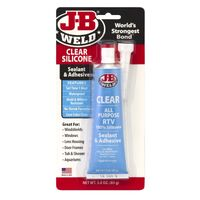 J-B WELD CLEAR SILICONE - RTV ALL PURPOSE , WATERPROOF , MOULD RESISTANT 85g