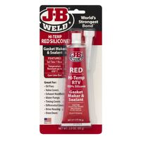 J-B WELD HI TEMP RED SILICONE - GASKET MAKER - TEMP RESISTANT UP TO 650° , 85g