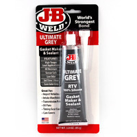 J-B WELD ULTIMATE GREY SILICONE GASKET MAKER AND SEALANT TEMP RESIST UP TO 500°