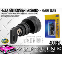 HELLA 4008HD HEAVY DUTY IGNITION / STARTER SWITCH 4 POSITION PLASTIC BODY