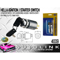 HELLA IGNITION STARTER SWITCH 4 POSITION 20A @ 12V , 22.5mm DIA MOUNTING