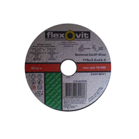 "FLEXOVIT REINFORCED CUTTING WHEEL 4-1/2"" 115 x 3.2 x 22.2 FLAT STONE CASTIRON 20"