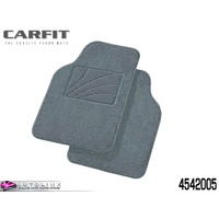 CARFIT PRESTIGE CARPET FLOOR MAT SET - 2 PIECE FRONT GREY 4542005
