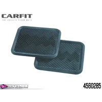 CARFIT HEAVY DUTY TERRAIN REAR RUBBER CAR MATS GREY - PAIR 4560285