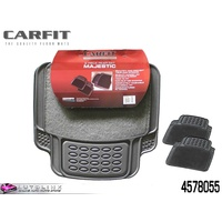CARFIT MAJESTIC REAR GREY CARPET & RUBBER MATS - 2 PIECE UNIVERSAL FIT 4578055