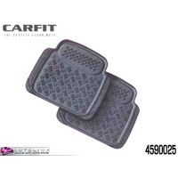 CARFIT SENTRY REAR RUBBER CAR MATS GREY - 2 PIECE SET UNIVERSAL 4590025