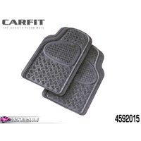 CARFIT SENTRY FRONT RUBBER MAT SET GREY - 2 PIECE UNIVERSAL FIT 4592015