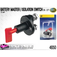 HELLA BATTERY MASTER SWITCH WITH REMOVABLE KEY 12/24V ( 4650 )