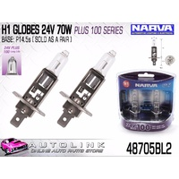 NARVA H1 GLOBES 24V 70W PLUS 100 TWIN PACK - 48705BL2