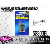 NARVA 52300BL GLASS FUSE ASSORTMENT MIXED PACK - 3AG 10 PACK