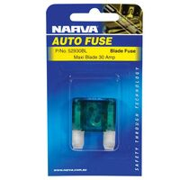 NARVA 52930BL LARGE MAXI BLADE FUSE 30A GREEN x1