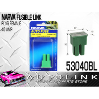 NARVA 53040BL FUSIBLE LINK FUSE FEMALE PLUG 40A GREEN COLOUR PUSH IN