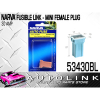 NARVA 53430BL FUSIBLE LINK PINK FEMALE PLUG IN MINI TYPE 30A x1