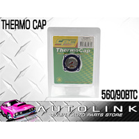 CPC 560-90BTC THERMO RADIATOR CAP BLUE BUILT IN TEMP GAUGE 13PSI REPLACES 560/90