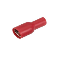 NARVA 56042BL CRIMP TERMINALS RED FEMALE BLADE 2.5 - 3mm WIRE 6.3mm TAB x10