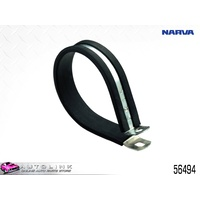NARVA PIPE CABLE SUPPORT CLAMPS 76mm STEEL P CLAMP UV RUBBER COVER 56494 x1