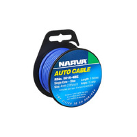 NARVA 5814-4BE SINGLE CORE CABLE BLUE 4mm DIA 4 METRE ROLL - 15 AMP RATED