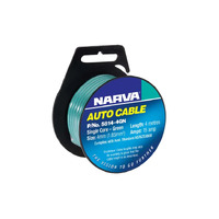 NARVA 5814-4GN SINGLE CORE CABLE GREEN 4mm DIA 4 METRE ROLL - 15 AMP RATED