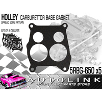 HOLLEY CARBURETTOR BASE GASKET - FOR 4 BARREL SPREAD BORE PATTERN x5