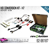 REVOLUTION 62-96187 HID HEADLIGHT CONVERSION KIT 12V H7 GLOBES TWIN PACK