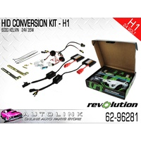 HID CONVERSION KIT 24 VOLT H1 GLOBES 35 WATT WITH SLIM BALLASTS 62-96281