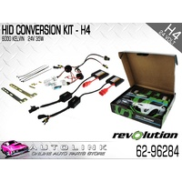 REVOLUTION HID CONVERSION KIT 24V H4 GLOBES HIGH LOW 35 WATTS ( 62-96284 )