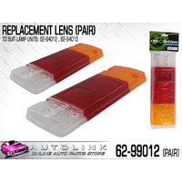 REAR COMBINATION LENS PAIR FOR 64-94012 62-94013 LAMPS FOUND ON ALLOY TRAY UTE