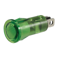 NARVA 62028BL PILOT LAMP - GREEN LED L.E.D 0.02 AMP 12 VOLT MOUNT HOLE 12.5mm