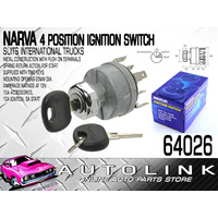 NARVA 4 POSITION IGNITION SWITCH SUITS INTERNATIONAL TRUCKS 25MM DIA MOUNT