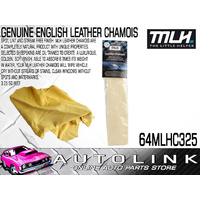 MLH LEATHER CHAMOIS - ABSORBS 6 TIMES ITS WEIGHT IN WATER SIZE 3.25sq 64MLHC325