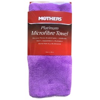 Mothers 6720200 Deluxe Thick Platinum Microfibre Towel 70 x 40cm 1200GSM