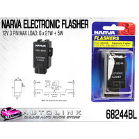 NARVA 68244BL ELECTRONIC FLASHER UNIT 12V 131W 3 TERMINALS