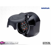 NARVA 7 PIN LARGE ROUND PLASTIC TRAILER SOCKET 30A @ 12V PER POLE 82052BL