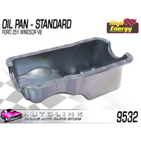 HIGH ENERGY 9532 STD OIL PAN FOR FORD V8 351 WINDSOR - FALCON XR XT XW XY - RAW